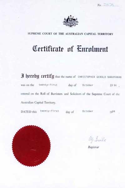 Edith Cowan University >> Chris Narayanan LLB, BSc, DipLeglPrac, DipEd - AICLA ...